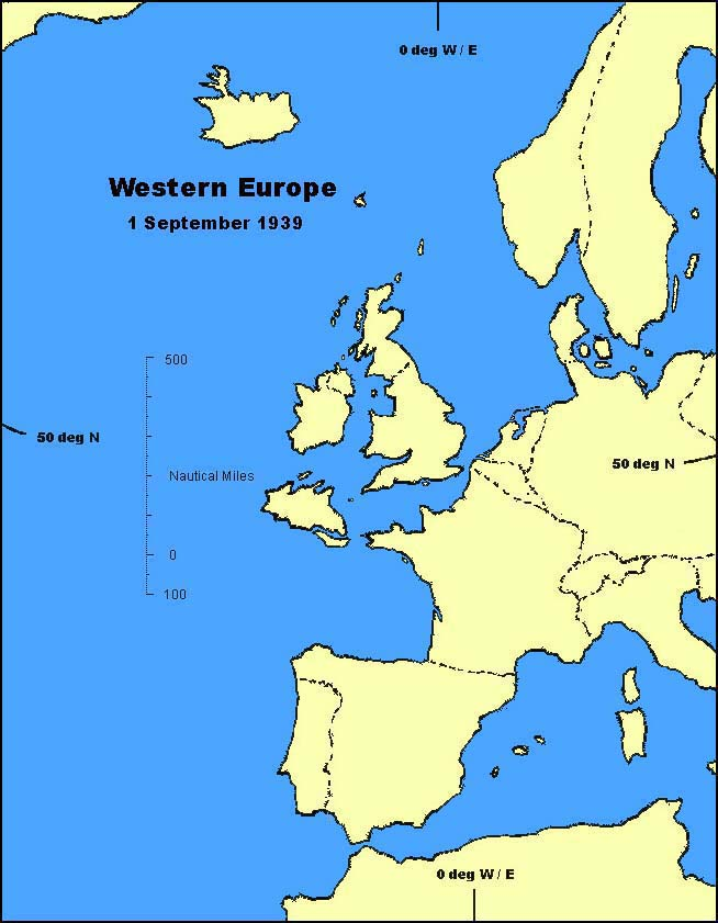 Tarrantry in Europe: 1 September 1939